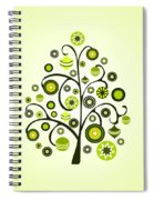 Green Ornaments Spiral Notebook