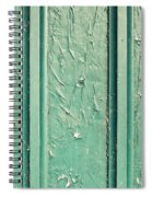 Green Painted Wood Spiral Notebook