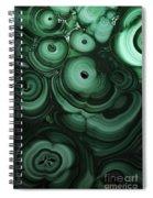 Green Patterns Of Malachite Spiral Notebook