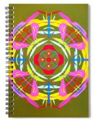 Green Pink Yellow Abstract Spiral Notebook