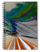Green Planets Spiral Notebook