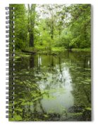 Green Blossoms On Pond Spiral Notebook