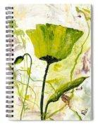 Green Poppy 003 Spiral Notebook