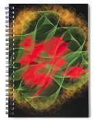 Green Red Gold Abstract Spiral Notebook