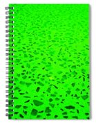 Green Representational Abstract Spiral Notebook