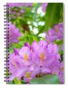Green Rhododendron Floral Garden Pink Purple Art Prints Spiral Notebook