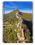 Green Scenery Of Kalnik Mountain Ridge Spiral Notebook