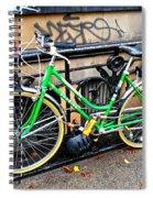 Green Schwinn Bike  Nyc Spiral Notebook