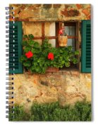 Green Shutters And Window In Chianti Spiral Notebook