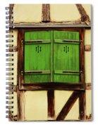 Green Shutters In Colmar France Spiral Notebook