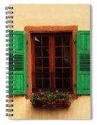 Green Shutters In Niedermorschwihr France Spiral Notebook
