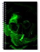 Green Skull Spiral Notebook
