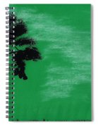 Green Sky Sunset Spiral Notebook
