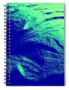 Green Snow Dune Abstract Spiral Notebook