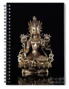 Green Tara Buddhist Goddess Statue Spiral Notebook