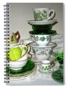 Green Teacups  Spiral Notebook