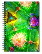 Green Thing 2 Abstract Spiral Notebook