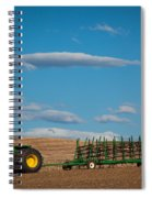 Green Tractor Spiral Notebook
