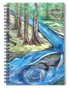 Green Trees With Rocks And River Spiral Notebook