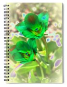 Green Tulips Spiral Notebook