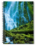 Green Waterfall Spiral Notebook