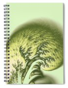 Green Wave Spiral Notebook