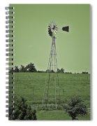Green Windmill Spiral Notebook