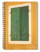 Green Window Shutters Spiral Notebook