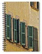 Green Window Shutters Of Florence Spiral Notebook