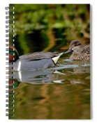 Green-winged Teal Pair Spiral Notebook