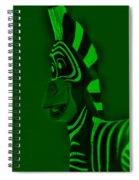 Green Zebra Spiral Notebook