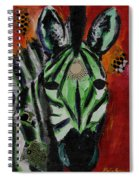 Green Zebra Stripes  Spiral Notebook