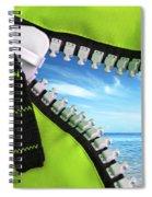 Green Zipper Spiral Notebook