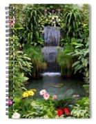 Greenhouse Garden Waterfall Spiral Notebook