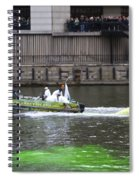 Greening The Chicago River For St Patrick's Day Spiral Notebook