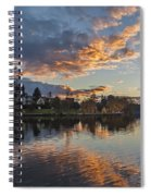 Greenlake Autumn Sunset Spiral Notebook