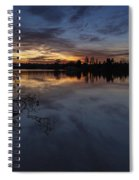 Greenlake Sunset With A Fallen Tree Spiral Notebook