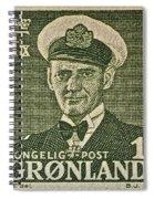 Greenland Stamp Circa 1950 Spiral Notebook