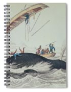 Greenland Whale Book Illustration Engraved By William Home Lizars  Spiral Notebook