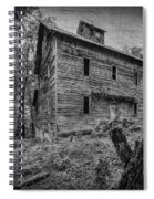 Greer Mill Black And White Spiral Notebook