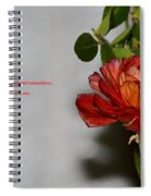 Greeting Of Love Spiral Notebook