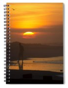 Greeting The Sunrise Spiral Notebook