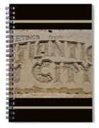 Greetings From Atlantic City Spiral Notebook