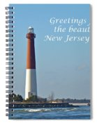 Greetings From The Beautiful New Jersey Shore - Barnegat Lighthouse Spiral Notebook