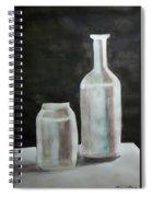 Grey Bottles Spiral Notebook