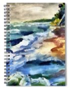 Grey Sky Day On The Lake Spiral Notebook