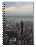 Grey Sky Over Manhattan Spiral Notebook