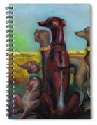 Greyhound Figurines Spiral Notebook