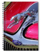 Greyhound On A Ford Spiral Notebook
