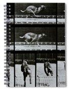 Greyhound Running Spiral Notebook